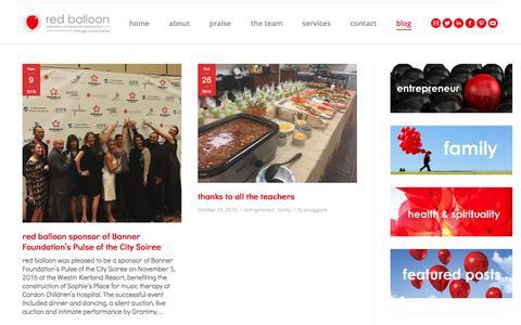 Screenshot of Blog redballooninc.com - Blog | Inspiring Interviews | Live Events | News | Business Tips - captured Nov. 29, 2016