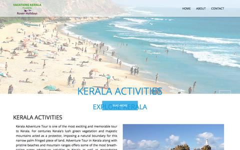 Screenshot of Home Page vacationskerala.com - Kerala Tour Packages, Best Holiday Packages for Kerala Tours - captured Aug. 6, 2019