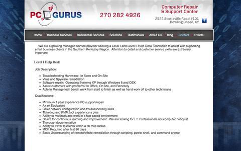 Screenshot of Jobs Page yourguruonline.com - Careers - captured Oct. 1, 2014