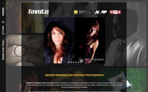 Screenshot of Home Page Pricing Page denver-photographer.com - Denver Wedding and Portrait Photographer - captured Sept. 30, 2014
