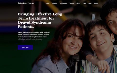 Screenshot of Home Page brabantpharma.com - Brabant Pharma - captured Sept. 30, 2014