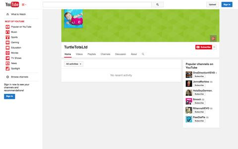 Screenshot of YouTube Page youtube.com - TurtleTotsLtd  - YouTube - captured Oct. 26, 2014