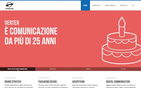 Screenshot of Home Page verter.it - Verter S.r.l. – Agenzia di comunicazione a Verona - captured Jan. 24, 2015