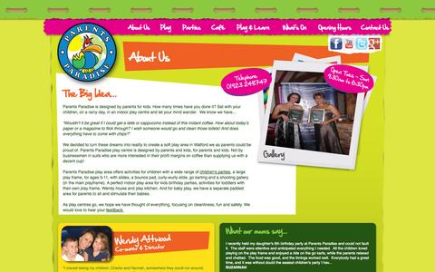 Screenshot of About Page parentsparadise.eu - Parents Paradise | About Us - captured Oct. 1, 2014