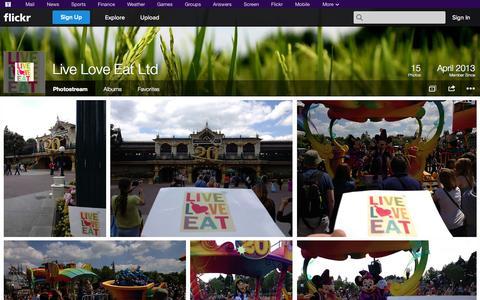 Screenshot of Flickr Page flickr.com - Flickr: Live Love Eat Ltd's Photostream - captured Oct. 23, 2014