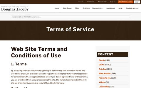 Screenshot of Terms Page douglasjacoby.com - Terms of Service   Douglas Jacoby   Douglas Jacoby - captured Oct. 18, 2018
