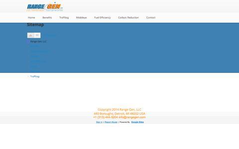 Screenshot of Site Map Page rangegen.com - Sitemap - Range Gen, LLC - captured Oct. 27, 2014