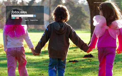 Screenshot of Home Page fotolibra.com - fotoLibra - The open access picture library - captured Sept. 17, 2014