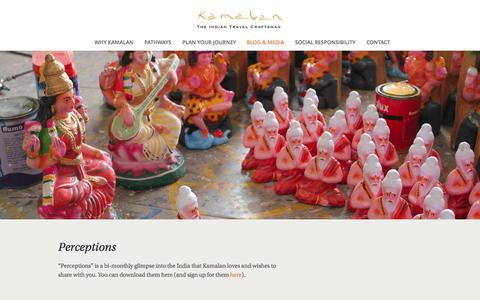 Screenshot of Press Page kamalan.travel - Media | Kamalan Travels - captured Nov. 3, 2014