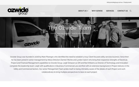 Screenshot of Team Page ozwidegroup.com.au - Our Team - Ozwide Group - captured Feb. 22, 2016