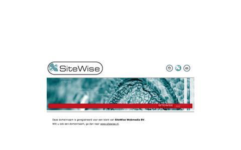 Screenshot of Home Page shopex.com - Deze domeinnaam is geregistreerd door SiteWise Webmedia B.V. - captured Oct. 1, 2014