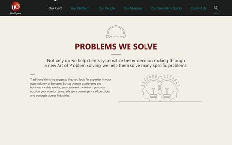 Art of Problem Solving | Case Studies | Mu Sigma