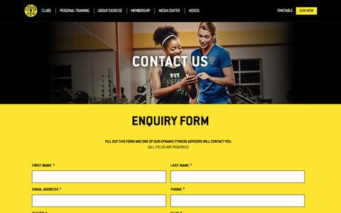 Screenshot of Contact Page goldsgym.ae - Contact Us - captured Aug. 24, 2017