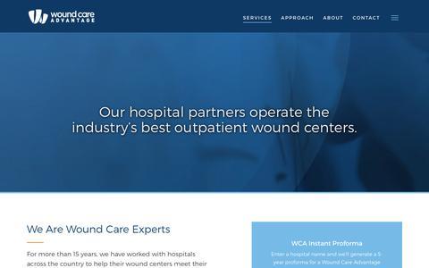 Screenshot of Services Page thewca.com - Services | TheWCA.com - captured Sept. 19, 2018
