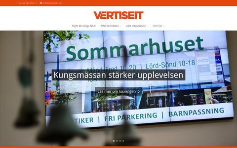 Screenshot of Home Page vertiseit.se - Vertiseit   Premium Digital Signage - captured Oct. 7, 2014