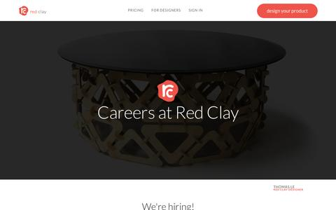 Screenshot of Jobs Page redclaydesign.com - Red Clay :: Careers - captured Nov. 18, 2015