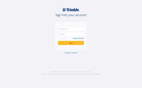 Screenshot of Login Page trimble.com - Trimble Inc. Central Authentication Service - captured May 19, 2019