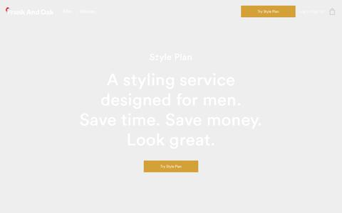 Style Plan: Our Monthly Clothing Subscription | Frank And Oak