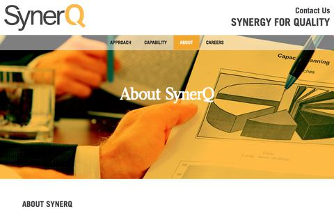 Screenshot of About Page synerq.com - About SynerQ | Synerq - captured Sept. 21, 2018