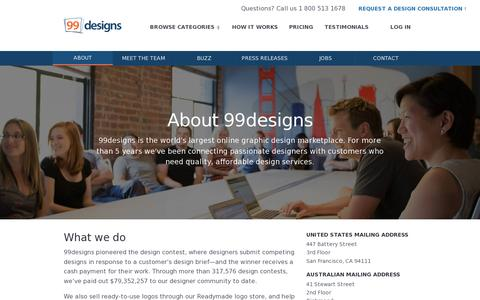 Screenshot of About Page 99designs.com - About | 99designs - captured July 19, 2014