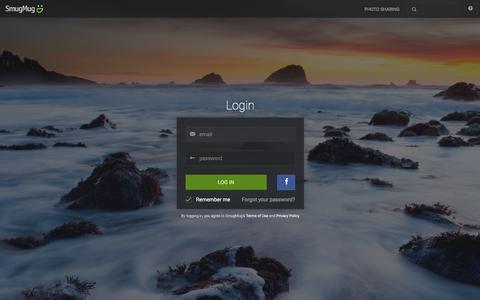 Screenshot of Login Page smugmug.com - Photo Sharing. Your Photos Look Better Here. - captured Feb. 23, 2016