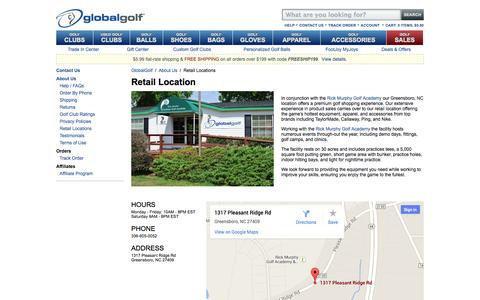 Screenshot of Locations Page globalgolf.com - Retail Locations - GlobalGolf - captured Sept. 25, 2014