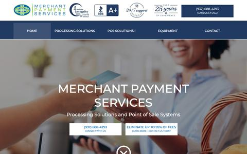 Screenshot of Home Page choosemps.com - Merchant Payment Services - Affordable Merchant Processing - captured Oct. 17, 2018