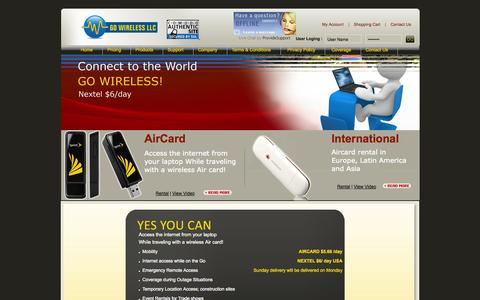 Screenshot of Pricing Page aircardrental.com - Pricing - Wireless Air Cards   Mobile Broadband Rental Plan   Nextel Phone Rental Services - captured Oct. 3, 2014