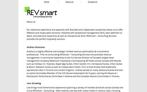 Screenshot of About Page revsmart.ca - About Us - captured Feb. 26, 2016