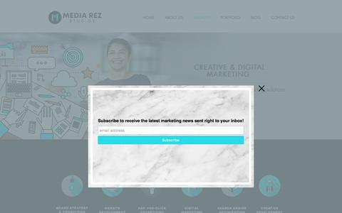 Screenshot of Services Page mediarezstudios.com - Our Services   Media Rez Studios - captured Sept. 20, 2018