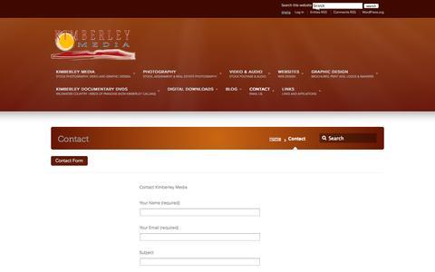 Screenshot of Contact Page kimberleymedia.com.au - Contact –  kimberleymedia.com.au - captured Sept. 30, 2014