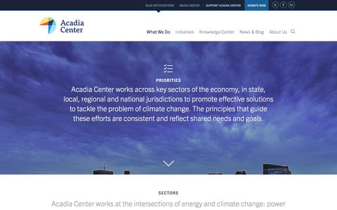 Screenshot of Locations Page acadiacenter.org - Acadia Center | What We Do - captured Oct. 14, 2016