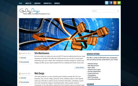 Screenshot of Home Page gundogdesigns.com - Gun Dog Designs - captured Sept. 30, 2014