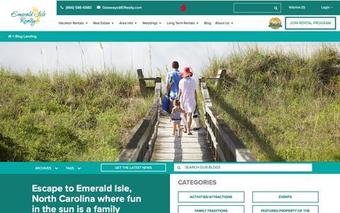 Screenshot of Blog emeraldislerealty.com - Vacation Rental Blog - Emerald Isle Realty - captured Sept. 28, 2018