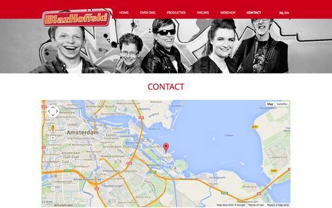 Screenshot of Contact Page blazhoffski.nl - Contact | BlazHoffski - captured Oct. 5, 2014