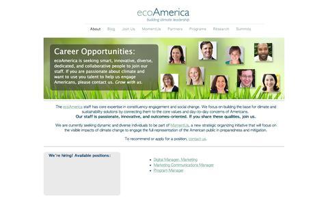 Screenshot of Jobs Page ecoamerica.org - Jobs   ecoAmerica - captured July 19, 2016