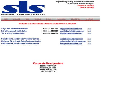 Screenshot of Team Page schwindlawless.com - SCHWIND-LAWLESS SALES, LLC - captured Oct. 4, 2014