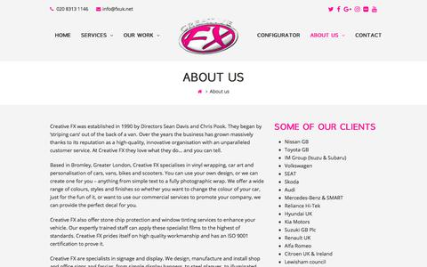Screenshot of About Page fxuk.net - About us – Creative FX - captured July 9, 2017