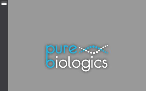 Screenshot of Home Page purebiologics.com - Pure Biologics - captured Jan. 23, 2015