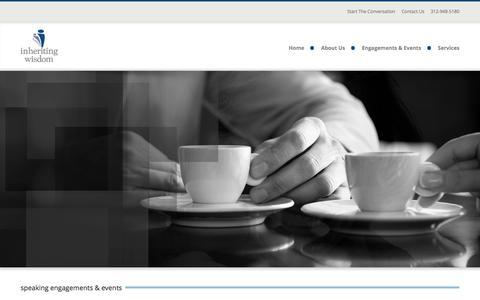 Screenshot of Press Page inheritingwisdom.com - Home - Inheriting Wisdom - captured Aug. 5, 2016