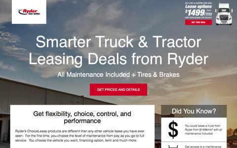 Screenshot of Landing Page ryder.com - Limited Time Offer from Ryder - captured April 8, 2018