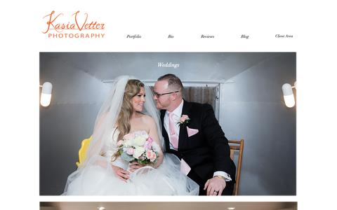Screenshot of Home Page kasiavetterphotography.com - Kasia Vetter Photography - captured Oct. 14, 2018