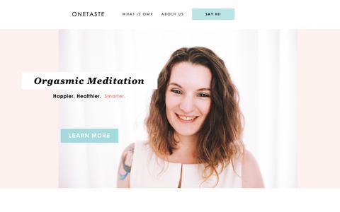 Screenshot of Home Page onetaste.us - OneTaste | Wellness Just Got Interesting - captured June 22, 2019