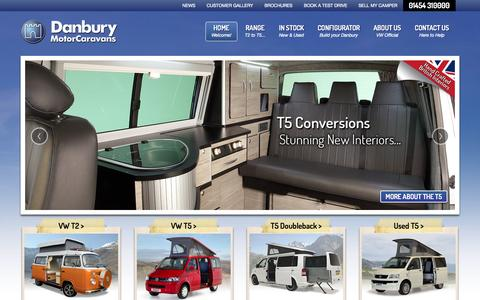 Screenshot of Home Page danburymotorcaravans.com - Danbury Motorcaravans. VW Type 2 campervans. Official VW Motorhome Suppliers. - captured Sept. 24, 2014