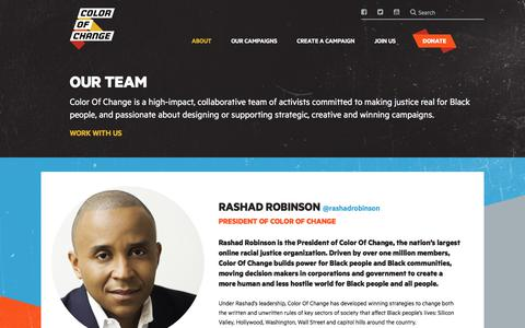 Screenshot of Team Page colorofchange.org - Our team – ColorOfChange.com - captured July 20, 2018