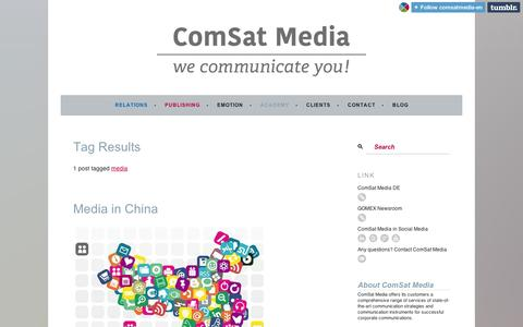 Screenshot of Press Page tumblr.com - media | ComSat Media EN - captured Sept. 11, 2014