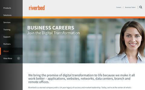 Screenshot of Jobs Page riverbed.com - Business Talent | Riverbed | US - captured May 25, 2017