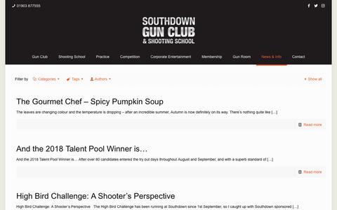 Screenshot of Press Page southdowngunclub.co.uk - News - Southdown Gun Club - captured Oct. 18, 2018