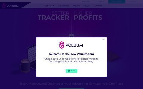 Voluum - Performance Marketing Tracker for Media Buying Teams, Agencies, Affiliates