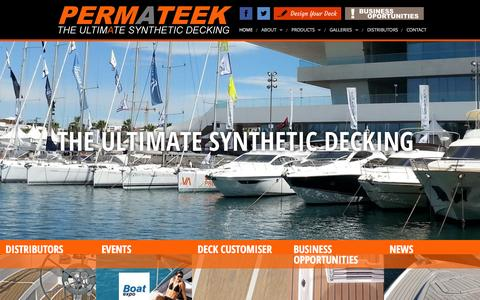 Screenshot of Home Page permateek.com - Permateek Synthetic Decking - captured July 20, 2015